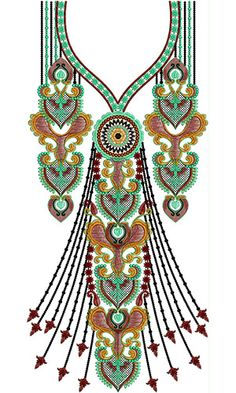 Lovely Dress Embroidery Neck Design