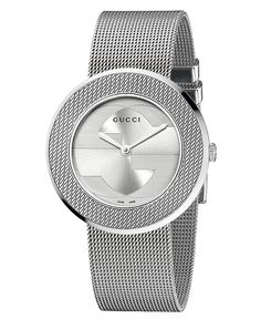 8f1fce13278 Gucci Women s Swiss U-Play Stainless Steel Mesh Strap Watch 35mm YA129407    Reviews - Watches - Jewelry   Watches - Macy s