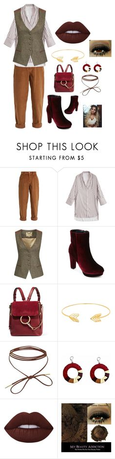 """Untitled #309"" by ericap61720 ❤ liked on Polyvore featuring Miu Miu, DUBARRY, Chloé, Lord & Taylor and Lime Crime"