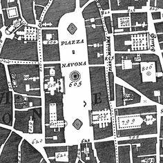 Nolli Map - Piazza Navona Detail