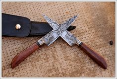 Chainsaw San Mai Damascus Integral Criollo Knives - The Knife Network Forums : Knife Making Discussions