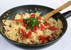 Recept na rýchly a veľmi chutný obed, alebo večeru, vhodný aj pri delenej strave Diet Recipes, Healthy Recipes, Diet Meals, Healthy Food, Fried Rice, Delena, Risotto, Detox, Fries