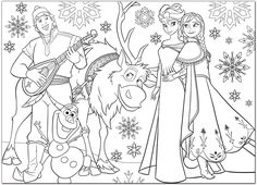 Free Disney Coloring Pages, Frozen Coloring Pages, Colouring Pages, Coloring For Kids, Coloring Sheets, Adult Coloring, Coloring Books, Frozen 1, Disney Frozen