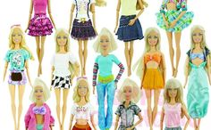 Outfit Blouse Dress Short Pants Skirt Clothes For Barbie Doll 20 Pcs Lot TKTH126 #Unbranded
