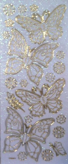 Dinglefoot's Scrapbooking - Gold & Glitter Butterfly & Flower Peel-Off Stickers $1.99 http://www.dinglefoot.com/gold-glitter-butterfly-flower-peel-off-stickers/