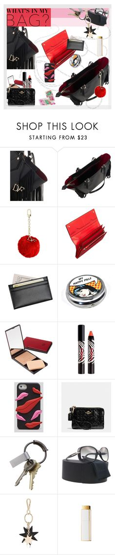 """""""What's in My Bag?..."""" by unamiradaatuarmario ❤ liked on Polyvore featuring Diane Von Furstenberg, Valextra, Royce Leather, Sisley, Coach, CB2, Prada, Roger Vivier, Chanel and inmybag"""