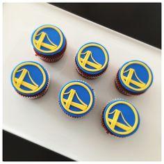 Golden State Warriors   Fondant   Cupcake
