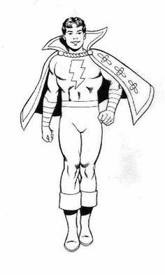 Captain Marvel, Jr. Captain Marvel Shazam, Oh Captain My Captain, Legion Of Superheroes, Superhero Villains, Superhero Coloring Pages, Comic Art, Comic Books, Dc Heroes, Batgirl