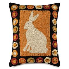 knitted hooked corduroy cushion