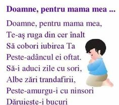 Pentru scumpă mea mamă 8 Martie, My Mom, Me Quotes, Poems, Crafts For Kids, Preschool, Childhood, Parenting, Advice