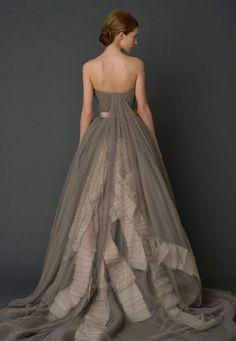 Vera Wang grey chiffon gown