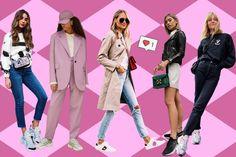 tênis que combinam com todos os tipos de roupas Nike Air Force, Nike Air Jordan, Converse All Star, Adidas Superstar, Streetwear, Shorts, Blazer, Stocking Tights, Women's Fashion Tips