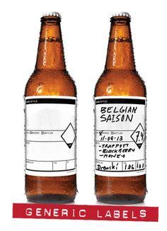 GarageMonk.com Writable Generic Beer labels. Keg, growler, bomber and bottle sizes. Dishwasher and Star San Safe. 10% off Code on website!