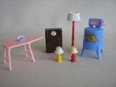 Vintage Dollhouse Furniture  RENWAL Accessories in by TheToyBox