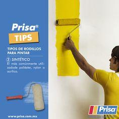 #PrisaTips Tipos de rodillo. 3. Sintético. http://www.prisa.com.mx/ #ColoresQueCubrenTodo