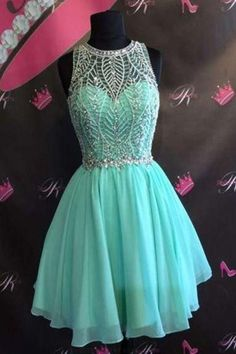 Customized Soft A-Line Homecoming Dresses, Sexy Homecoming Dresses, Homecoming Dresses Chiffon