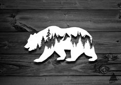 Bear Decal Car Decals Mountain Stickers Laptop Decal Adventure Decal Decals For Yeti Accessories For Jeep Animals Animal Vinyl Decal Car Stickers, Car Decals, Laptop Stickers, Vinyl Decals, Metal Art, Wood Art, Vinyl Wood, Animals Tattoo, Tree Decals