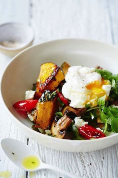 Breakfast salad.