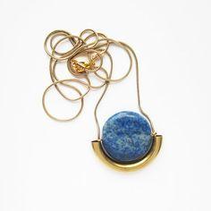 NEW   Lapis Lazuli stone necklace by sewasong on Etsy, €30.00