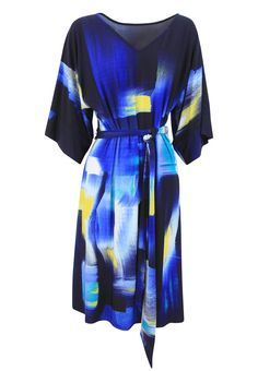 SACHA DRAKE - - Montmartre Kimono Dress With Tie Up Belt In Navy