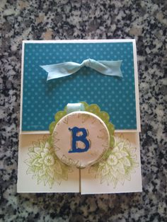 Dutch Fold Card with Paperclay Lapel Pin