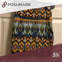Tribal Print Skirt Bodycon tribal print skirt from Charlotte Russe. Charlotte Russe Skirts Mini