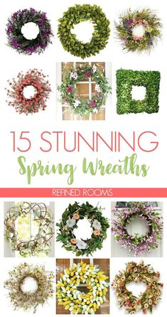On the hunt for spring home decor? Check out this roundup of 15 stunning spring wreaths that are sure to brighten up your front door