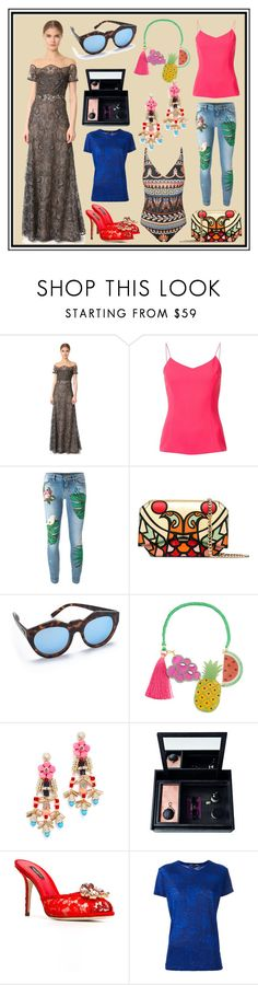"""""""Untitled #3438"""" by cate-jennifer ❤ liked on Polyvore featuring Notte by Marchesa, Christian Siriano, Dolce&Gabbana, Givenchy, Le Specs, Mercedes Salazar, Adia Kibur, Nomess, Proenza Schouler and Mary Katrantzou"""