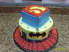 """If Ian saw this, he would """"need it!""""  For now we are sticking with just Batman for his cake!"""