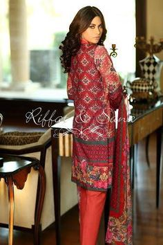 604fbd3969 Latest Winter Silk Karandi Semi-Formal Dresses By Sana Salman  Riffat   Sana  for women. Sana Salman  Riffat   Sana Fall winter dresses O series prices.