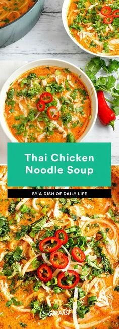 11 Thai Recipes That Are Way Better Than Takeout Want to make your own pad Thai or give a Thai red curry recipe a try? We've got a list of the best Thai dishes and easy dinner recipes you can make at home. Tai Food Recipes, Easy Thai Recipes, Asian Recipes, Cooking Recipes, Ethnic Recipes, Dinner Recipes, Dinner Ideas, Quick Recipes, Thai Salads