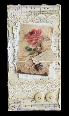inspired card-I want to do this out of fabric.Vintage inspired card-I want to do this out of fabric. Junk Journal, Journal Cards, Shabby Chic Karten, Shabby Chic Cards, Atc Cards, Card Tags, Mixed Media Cards, Vintage Tags, Vintage Birds