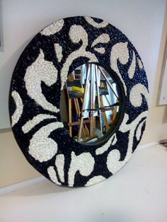 One of a kind collage/mosaic/mirror. Made completely from recycled materials. A collage base on plywood with clear glass mosaic over. A celebration of color and pattern! Mirror Mosaic, Mirror Art, Mosaic Glass, Mosaic Art, Mosaics, Mosaic Furniture, Mosaic Crafts, Decorative Plates, Kids Rugs