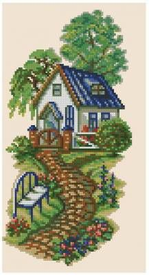This Pin was discovered by Şen Funny Cross Stitch Patterns, Cross Stitch Charts, Cross Stitch Designs, Ribbon Embroidery, Cross Stitch Embroidery, Embroidery Patterns, Cross Stitch House, Cross Stitch Landscape, Cross Stitch Pictures