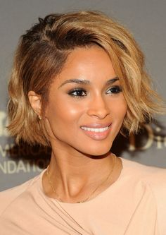 Ciara Short Hairstyle: Mohawk Bob