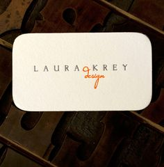 beautiful letterpress business cards (inky lips press)