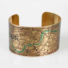London map bracelet on British Library