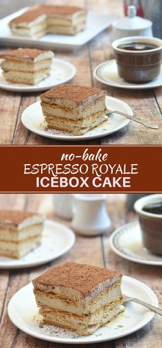 Espresso Royale Icebox Cake with delicious layers of graham crackers and espresso mousse. Rich, silky and with an intense coffee flavor, this icebox cake is so easy to make and is sure to become a favorite summer treat! (desserts to make graham crackers) Best Dessert Recipes, No Bake Desserts, Easy Desserts, Delicious Desserts, Icebox Cake Recipes, Health Desserts, Espresso Royale, Coffee Mousse, Espresso Coffee