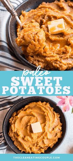 Made with only 6 simple ingredients, these Maple Whipped Paleo Sweet Potatoes are perfect for serving on holidays, as a simple side dish, or meal prepping. One of our favorite sweet potato recipes! The perfect side dish that goes with any dinner!