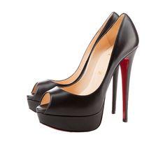 015504724f1 Christian Louboutin Lady Peep 150 Black Leather  945.00 Stiletto Heels