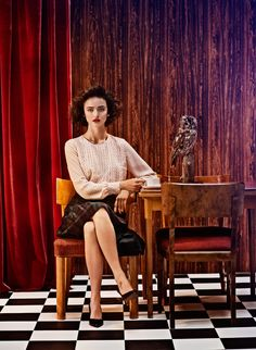 Elle Sweden Revisits Twin Peaks In Fashion Shoot 90s theme