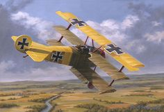 Richthofen the Younger, by Russell Smith (Fokker Dr.I, Lothar von Richthofen) - BFD Best Picture For passenger Aircraft For Your Taste You are looking for something, and it is going to tell you exactl Ww2 Aircraft, Fighter Aircraft, Military Aircraft, Passenger Aircraft, Fokker Dr1, Old Planes, Aircraft Painting, Airplane Art, Vintage Airplanes