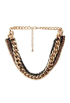 Mixed Chain Necklace | FOREVER21 - 1000138205
