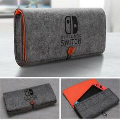 Soft Felt Protective Pouch Storage Bag Travel Carrying Case for Nintendo Switch Video Game Rooms, Video Games, Nintendo Ds, Space Games For Kids, Mode Geek, Nintendo Switch Case, Nintendo Switch Accessories, Felt Case, Video Game Development