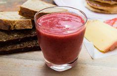 Banan-jordbær smoothie
