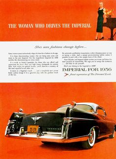 """1956 Imperial Southampton Coupe - """"The woman who drives the Imperial"""""""