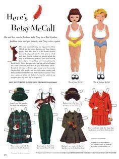 (⑅ ॣ•͈ᴗ•͈ ॣ)♡                                                             ✄Paper Dolls Betsy McCall