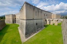 L'aquila castle, spanish fort in Aquila, Italy