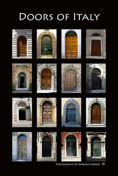 Doors of Italy Poster by hippolover538, via Flickr