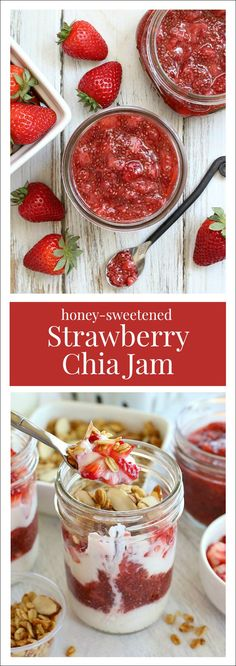 Strawberry Chia Jam {5 ingredients, just 15 minutes!}